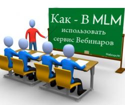 Сетевой маркетинг с применением вебинаров